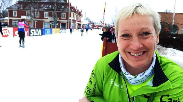 Carina Hammarstrand har åkt alla loppen under Vasaveckan, i sjutton års tid. Foto: Martin Eriksson/Sveriges Radio