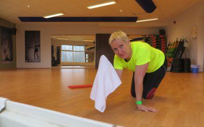 Spinning och trasträning på träningskontot idag