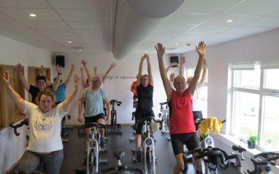 Tisdag Jobb på jobbet, spinning som träning och Fysioterapimöte på kvällen