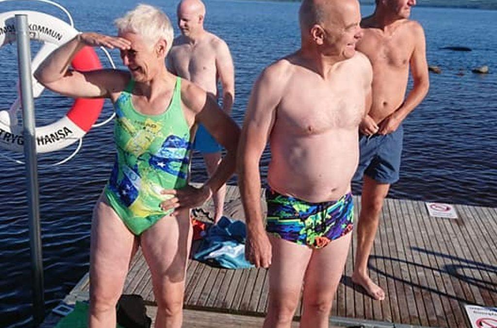 Lördag Bad i Ivösjön och Födelsedagskalas