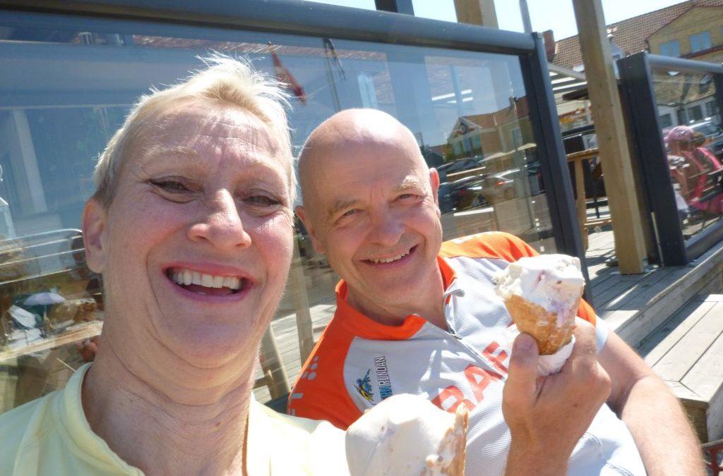 Lördag Från Linköping i bil över Bjäre på cykel.