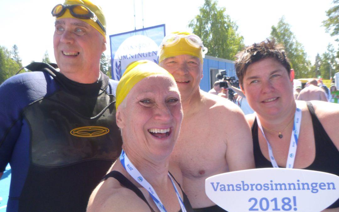 Lördag Vansbrosimning nr 27 – Målgång 85 i Vansbrolopp!