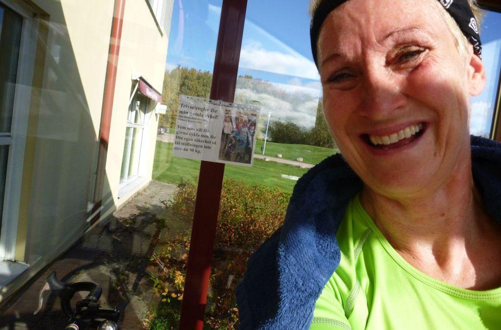 Torsdag Utan bad men med skidor och cykel  :-)