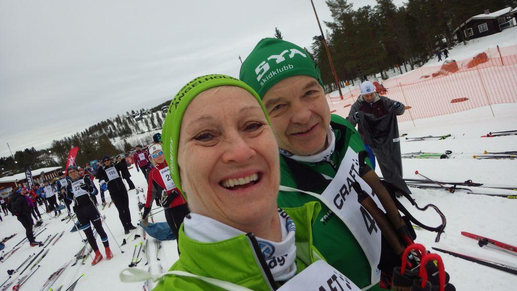 Söndag Årets första skidtävling. Craft Skimarathon i Orsa Grönklitt