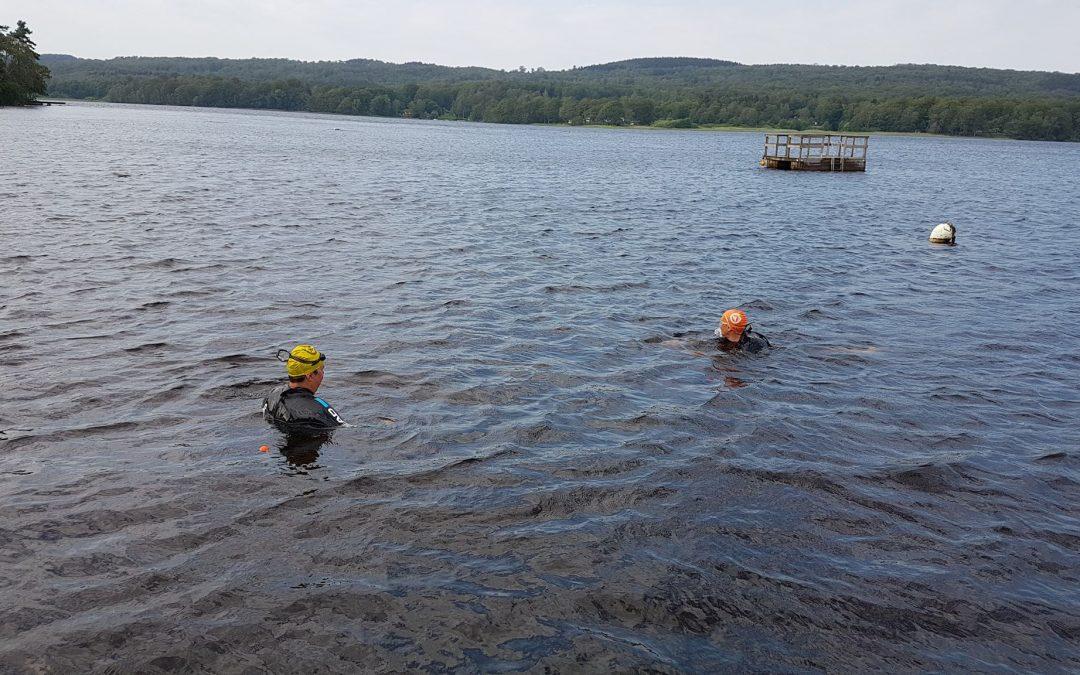 Söndag med 5 km simning