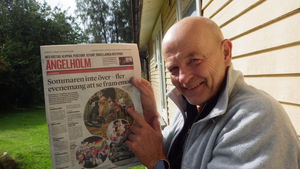 Fredag  Stavträning, Ernst hittar sig själv i tidningen och Goo mässa i Helsingborg