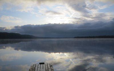 Fredag Härlig morgon innan vi kör norrut