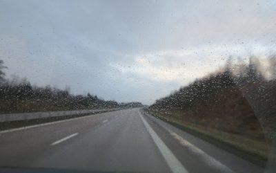 Måndag Regn och sol. Träning och Julbord :-)