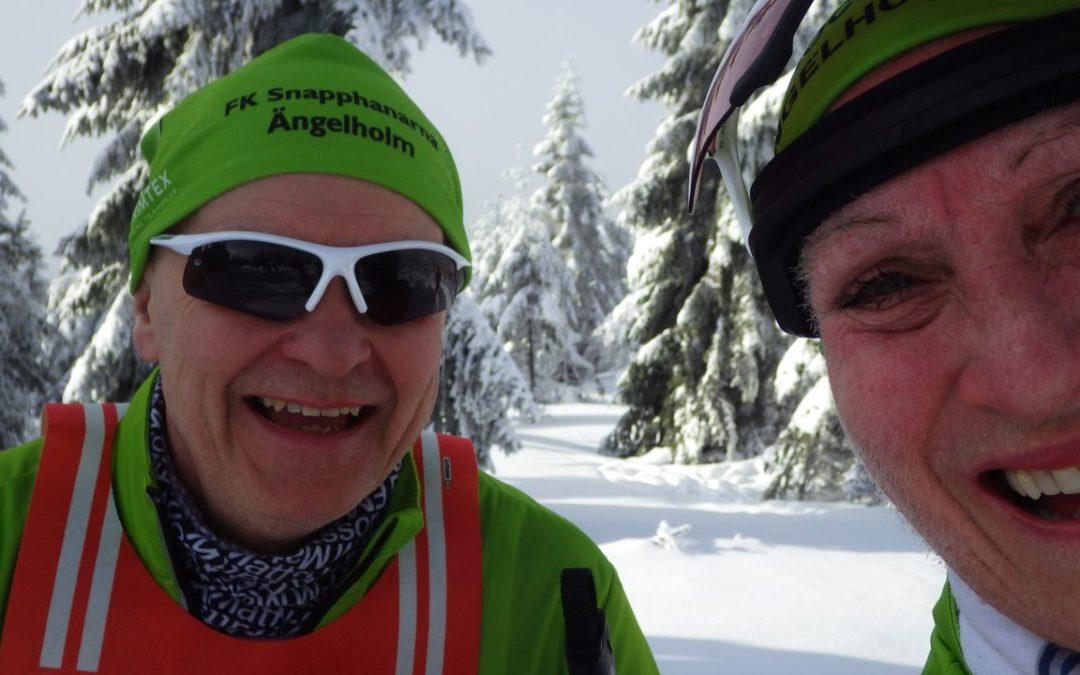 Lördag 25 km Klassisk skidåkning i Strålande sol!