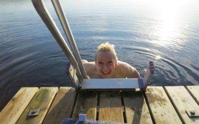 Onsdag #enkeltattträna på bryggan och bad i solsken