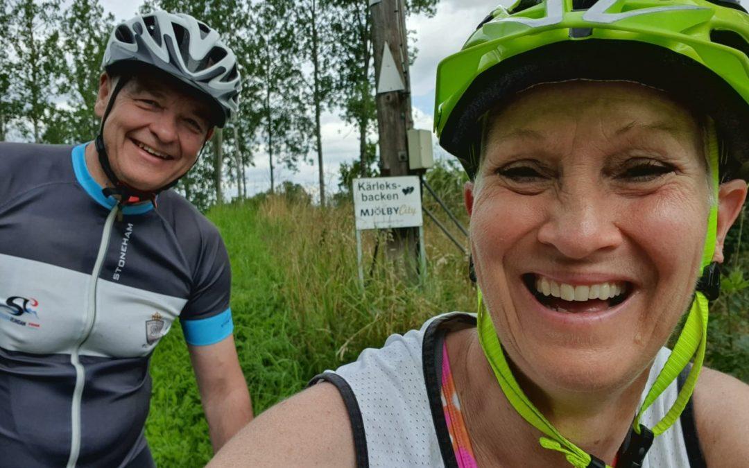 Söndag Cykling i Sya och sedan söderut.