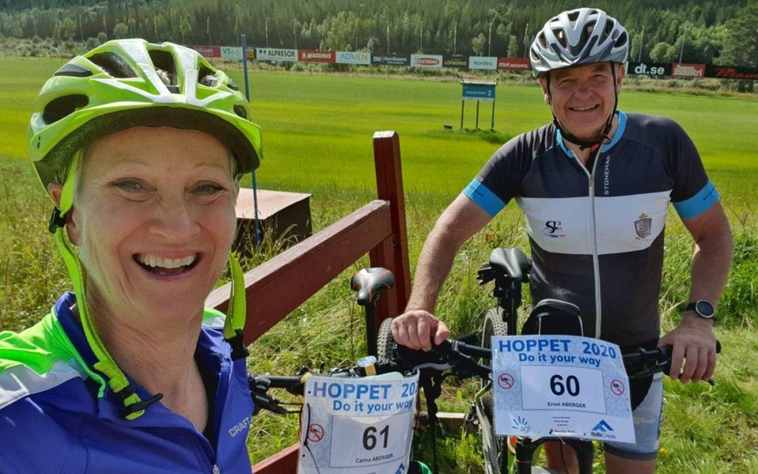 Söndag Hemmacykelvasan 45 km och Kangaroo Hoppet 42 km
