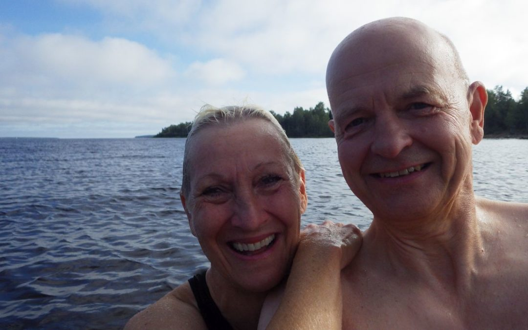 Fredag Mycket skog, bad i Bottenviken och Robinson