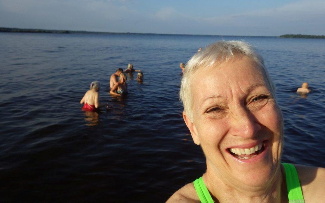 Lördag Ivösjön och rullskidor