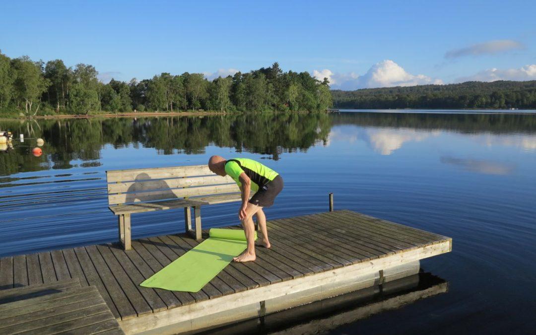 Måndag – Morgon på bryggan, jobbjobb träning och träning :-)