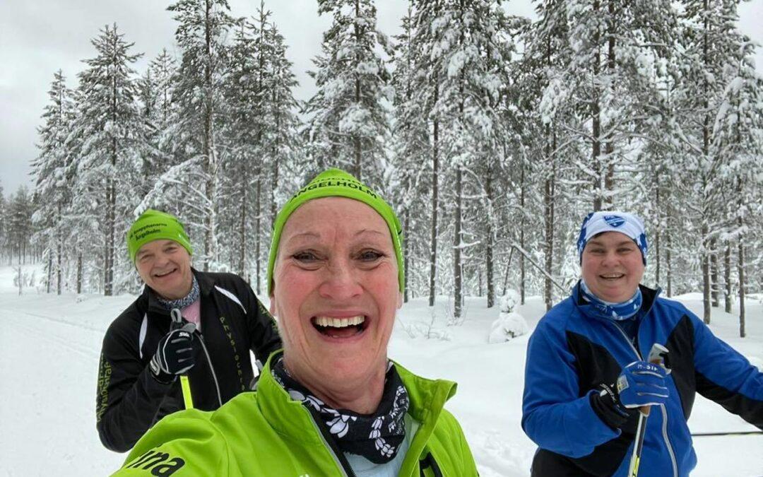 Måndag Underbar skidåkning i Orsa Grönklitt